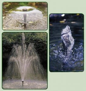 3 fountain styles